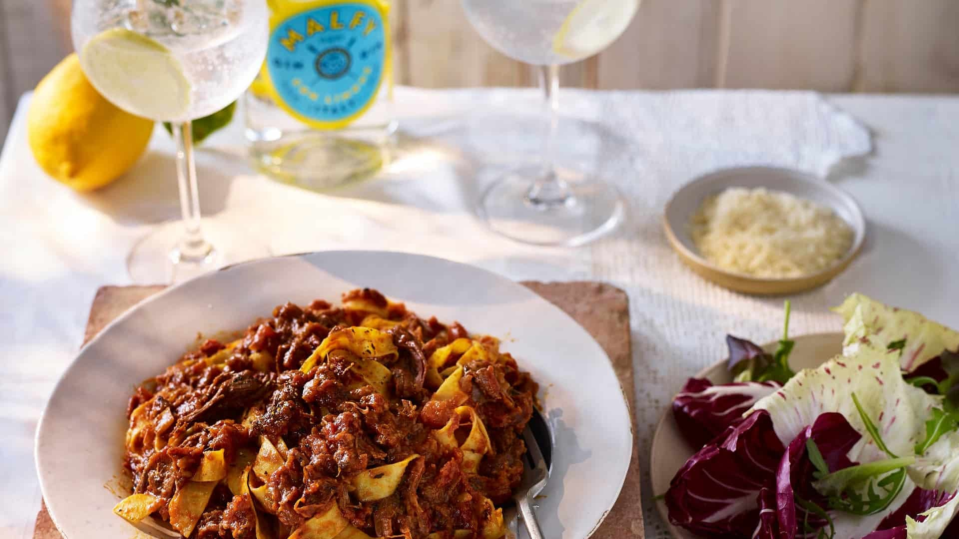 Beef Ragu Pappardelle & con limone
